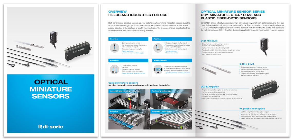 di-soric Brochure Optical Miniature Sensors